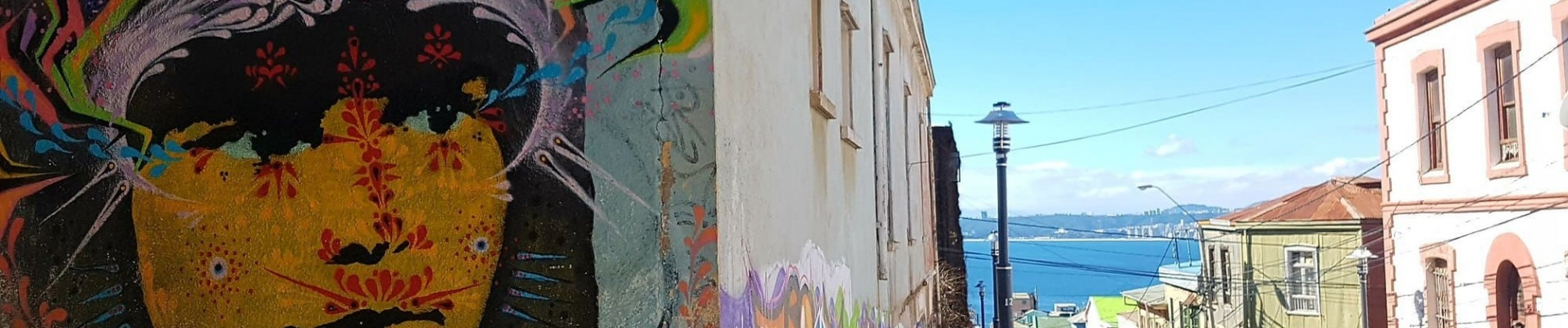 Peinture murale street art Valparaiso, Chili. Agence francophone Chili.