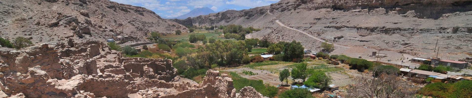 Paysage aride Chili Lasana