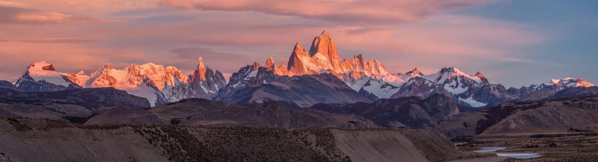 Fitz Roy, Patagonie, Argentine, Sunset