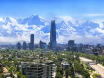 Panorama sur la ville de Santiago, Chili