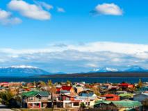 Vue sur la ville de Puerto Natales