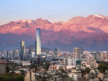 Santiago, vue sur la cordillère des Andes