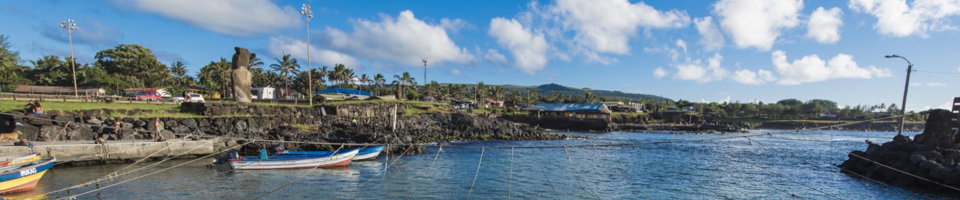 Bateaux de pêcheurs, Hanga Roa