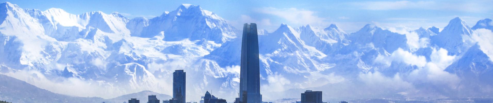 Vue sur les Andes, Santiago, Chili